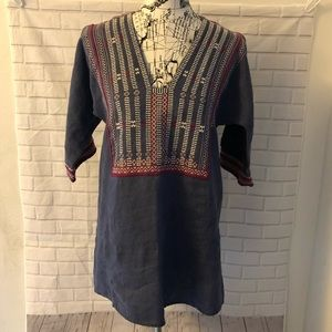 CAbi embroidered linen tunic style #996